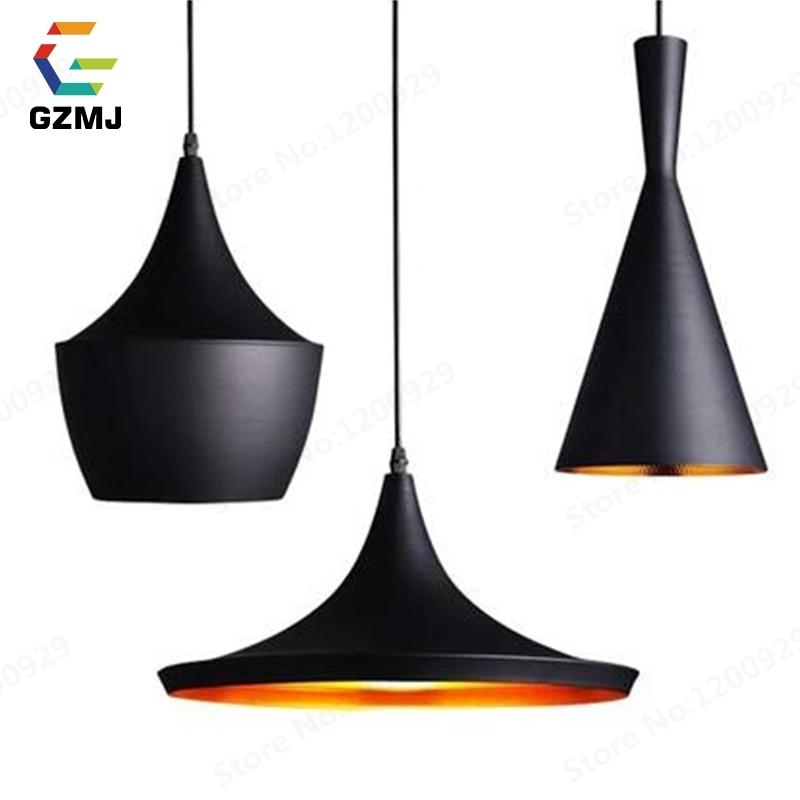 Retro Metal Pendant Lights Lamps Famous Design Hanglamp Industriel LED For Home Fixtures Kitchen Amber Loft