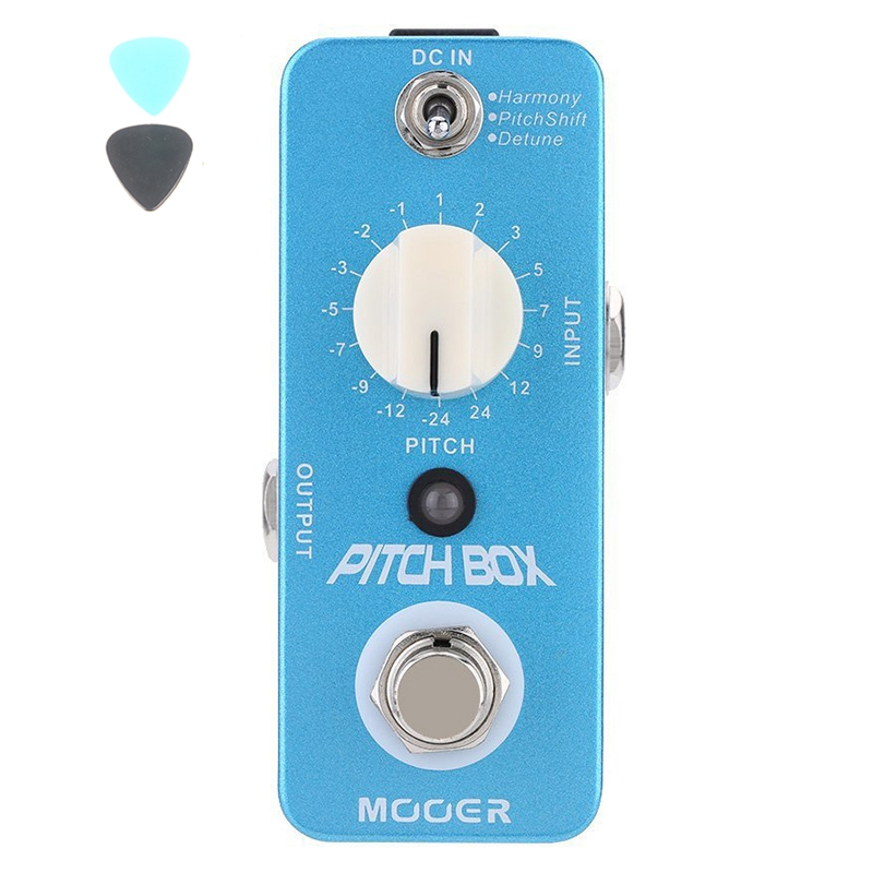 MOOER Pitch Box Micro Mini Harmony Pitch Shifting Effect Pedal for Electric Guitar True Bypass Free Shipping Guitar Accessories mooer ninety orange micro analog phaser electric guitar effect pedal true bypass with free connector and footswitch topper