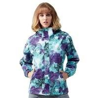 Простой Для женщин Soft Shell Куртки Зима 3 в 1 камуфляж Восхождение пальто с капюшоном Водонепроницаемый ветрозащитный Спорт Кемпинг Пеший Тури