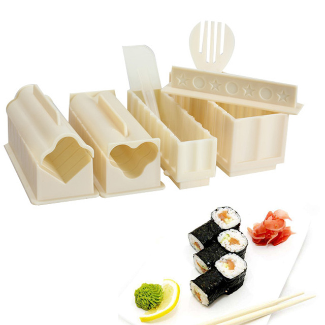 11Pcs/set Easy To Use DIY Sushi Maker Rice Mold Kitchen Sushi Making Tool Set For Sushi Roll Kitchen Accessaries Cooking Tool