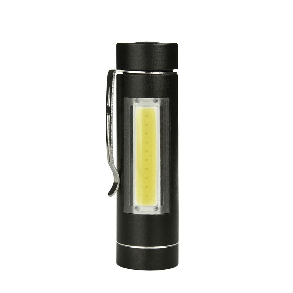 HobbyLane Mini Portable Aluminum Alloy LED Flashlight With Pen Clamp For Home Outdoor Camping Lighting Flashlight