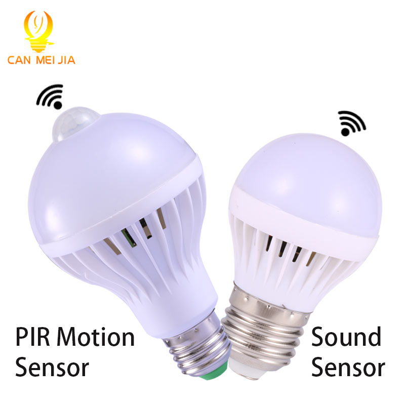 Pir Motion Sensor Lamp 5w Led Bulb 7w Leds 9w Auto Smart Light Bulbs Or Sound Voice E27 In S From