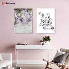 Modern Wall Painting Botanical Art Flower Canvas Print Kitchen Elegant Poster Decoration Feminist Living Room Home Decor(China)
