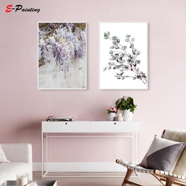 Modern Wall Painting Botanical Art Flower Canvas Print Kitchen Elegant Poster Decoration Feminist Living Room Home Decor