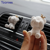 Fashion Mini Ornament Teddy Crown Outlet Perfume Clips Bear Auto Decor Fragrance Smart Fortwo Forfour Car