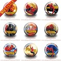 Novely Fashion Button badges 90pcs 12 inches & 30mm SPIDER MAN  Buttons Pins Badges Round Badges Party favor ,Bags Decorate