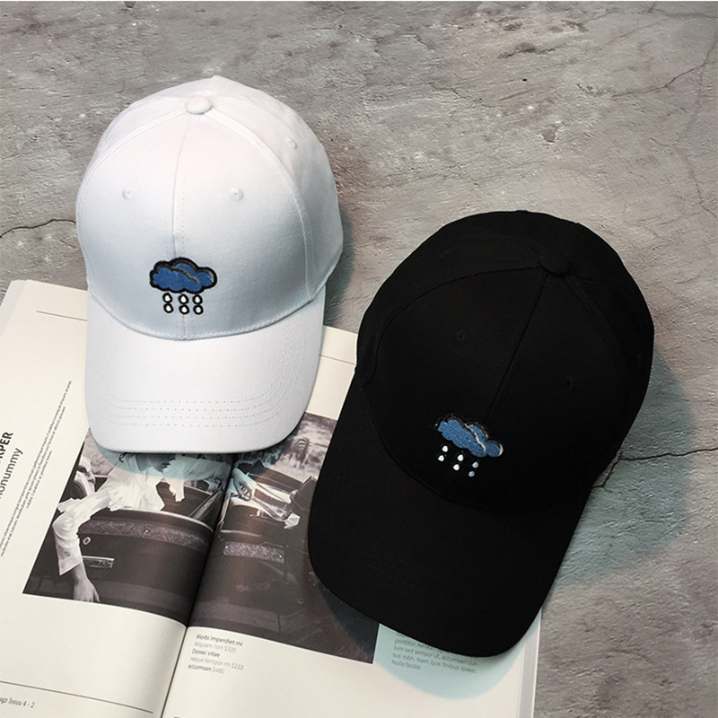 2017 new Fashion Hot Snapback Baseball Caps Embroidery Rain And Cloud Personaility Summer Hats For Women Adjuseable Dad Hat fashion new women s hat lace beanie crystal direction hats for women autumn winter outdoor thin caps sport beanies