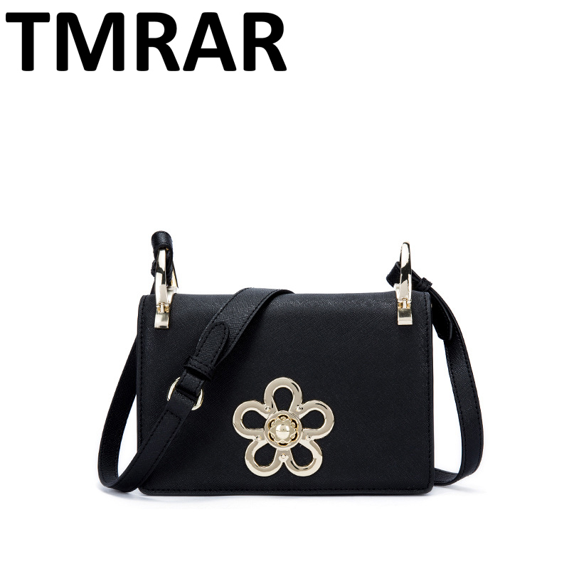 2018 New classic chic flap messenger bags lady split leather handbags women flower crossbody bags for female bolsas qn105 2018 new classic bucket messenger bags popular tote lady split leather handbags women chains shoulder bags bolsas qn250