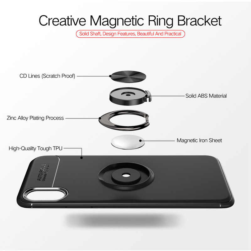 dba0f420832 ... magnetic Finger Ring phone case back holder house style back cover for  huawei iphone 5 5S ...