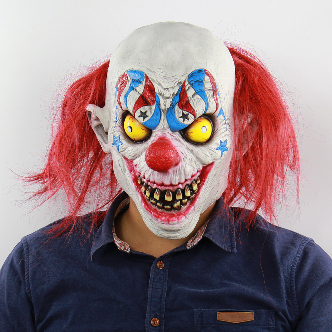 Halloween Scary Clown Masks Latex Horror Mask Adult Party