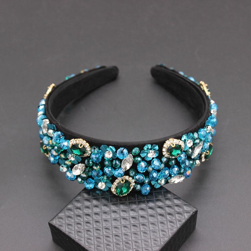 Image 5 - Handmade Wedding Hair AccessoriesLuxury Charm Baroque Sequins Bead Crown Tiara  Hair Bands Crystal Headband 269-in Hair Jewelry from Jewelry & Accessories