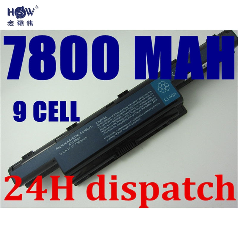HSW 9cell Battery For Acer Aspire 4741 5741 5741g 5742 5742g 5750 5552 5552g 7551 7741G AS10D75 AS10D41 AS10D51 AS10D61 AS10D71
