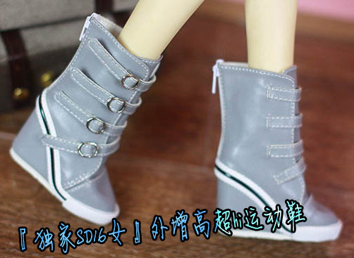 BJD doll shoes gray H slope High heels for 1/3 BJD DD SD10 SD13 SD16 DD DY AS girl doll fashion casual shoes accessories