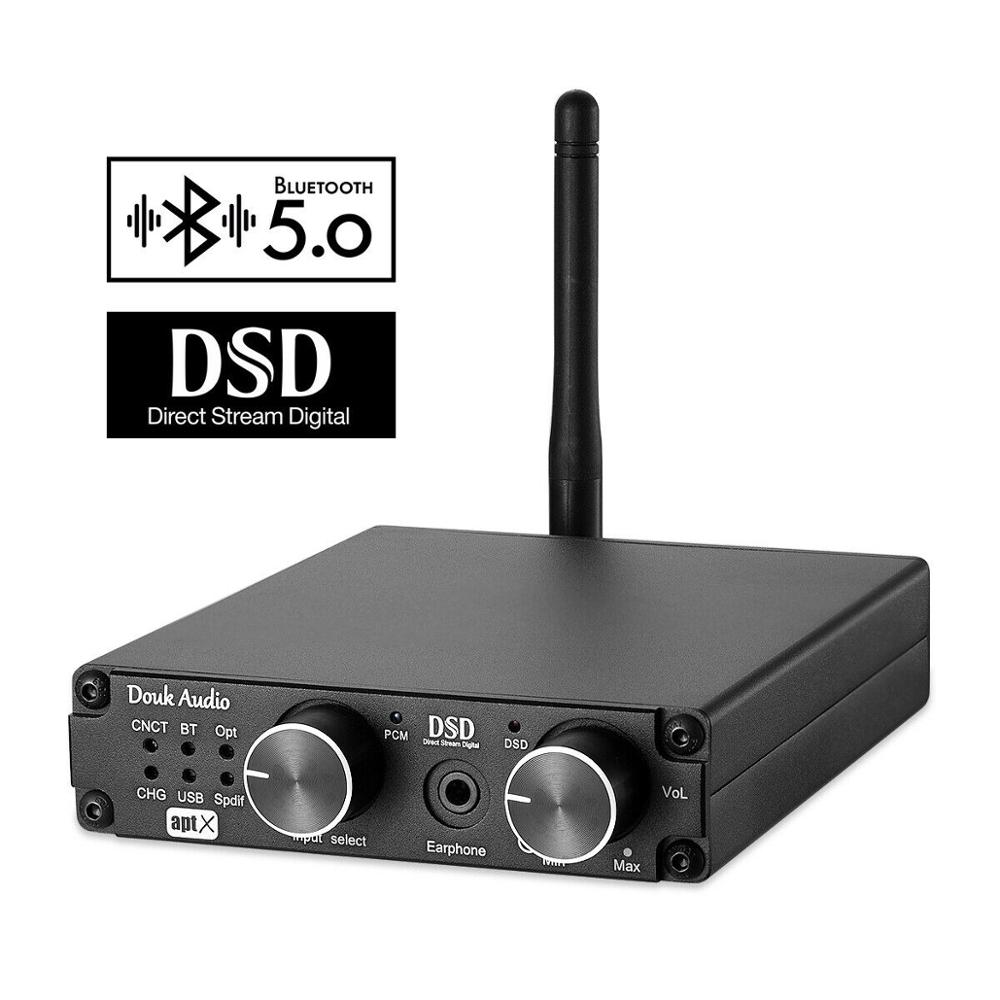 Douk audio Mini Bluetooth 5.0 USB Decoder Headphone Amplifier XMOS DAC DSD256 PCM384K ATPXDouk audio Mini Bluetooth 5.0 USB Decoder Headphone Amplifier XMOS DAC DSD256 PCM384K ATPX