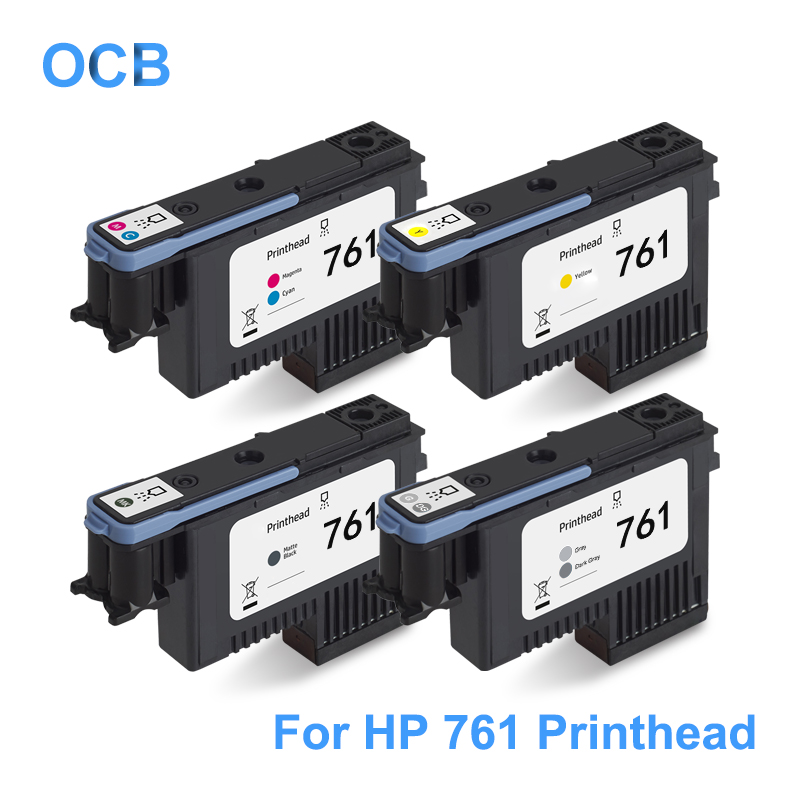For HP 761 DesignJet Printhead CH645A CH646A CH647A CH648A Print Head For HP Designjet T7100 T7200 Printer ( Y C/M GY/DGY MBK ) image
