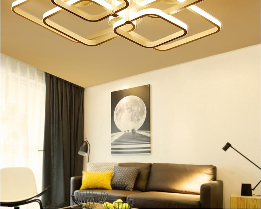 Moderno led lustre com acrílico luzes de