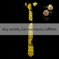 Bling Gold Mirror Acrylic Men Fashion Skinny Necktie Plaid Silk Ties for Women Gift Necklace Jewelry Wedding Party Ceremony Gift