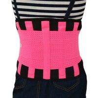 Frauen männer Low Back Unterstützung Klammer Gürtel Lendenwirbelsäule Taille Doppel Einstellen Lordosenstütze Blau Farben AFT-Y123