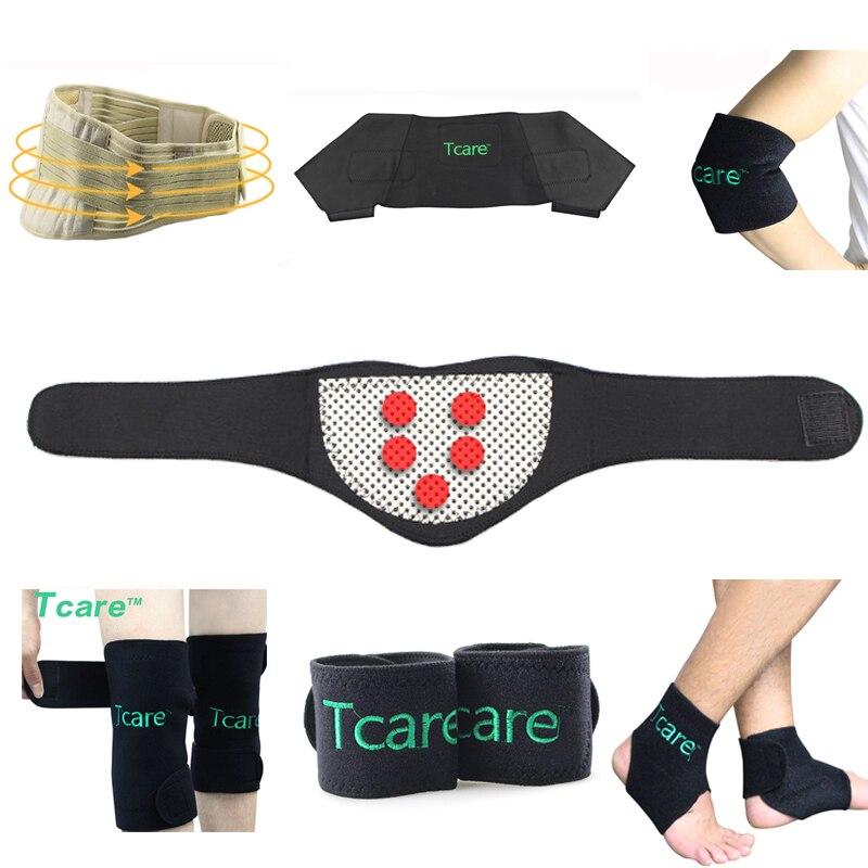 Tcare 7pair set Tourmaline set self heating magnetic waist belt kneepad neck ankle support shoulder pad