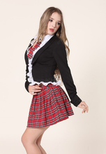 Adult Naughty School Girl Costume Free Shipping Hot Popular Sexy Fancy Student Uniform Dress 3S1092 Schoolgirl Party Costumes