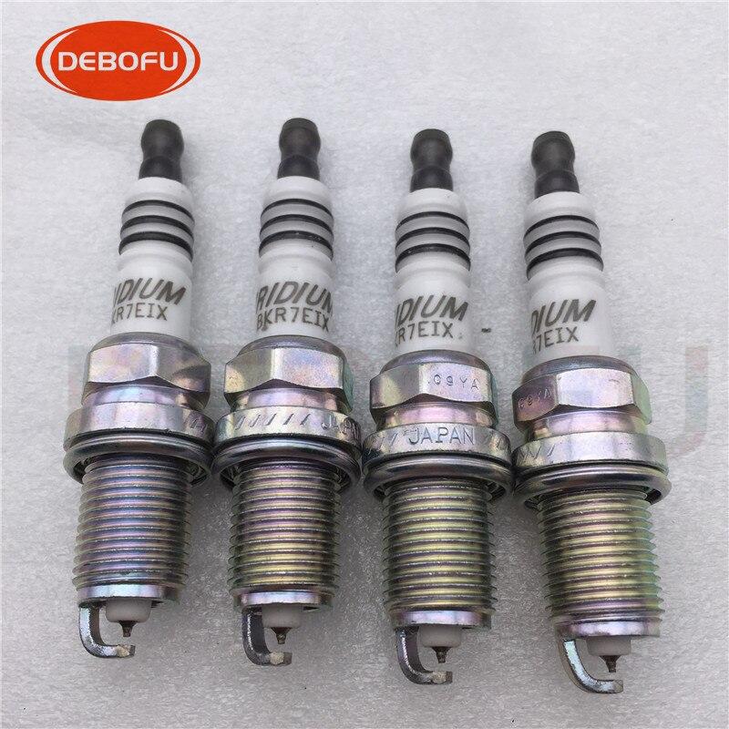For Set of 4 Spark Plugs NGK for Audi Mazda Nissan Volkswagen Volvo BPR 6 EY