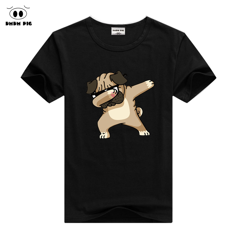 DMDM PIG Children Summer T Shirt Dabbing Funny Cartoon Short Sleeve T-Shirts For Boys Girls Tops Kids Tshirt 2 3 4 5 6 7 8 Years(China)