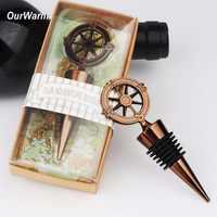 OurWarm 10 pièces bouchon de bouteille de vin en métal cadeaux de mariage pour les invités décoration de mariage Souvenirs et cadeaux faveurs de fête