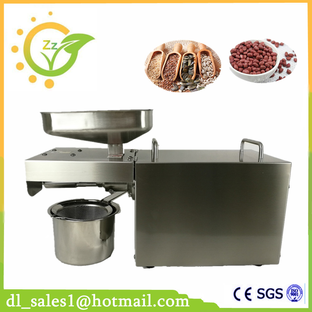 Automatic Industrial Oil Press Machine Cold Press Peanut Soybean Oil High Oil Extraction Rate Household Oil Pressers