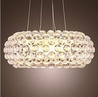 Elegant Style Modern K9 Crystal Pendant Light For Parlor Dining Room Chain Adjustable Bulb Included