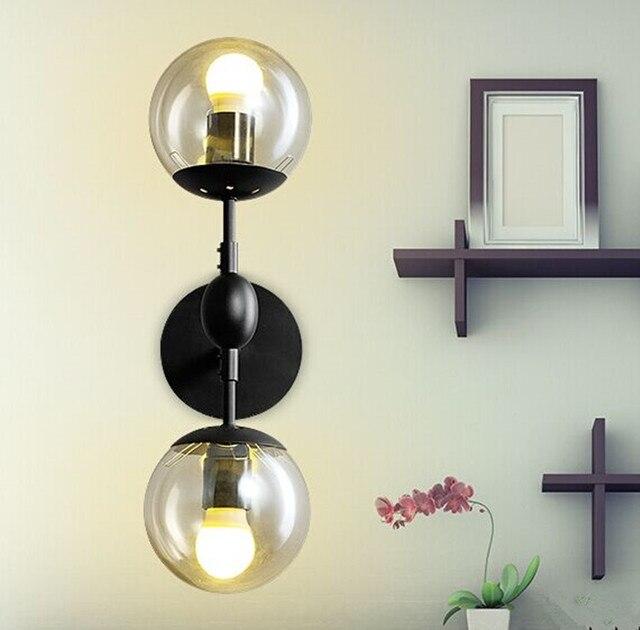 Wall Sconce Glass Ball : Aliexpress.com : Buy E27*2 modern glass ball wall sconce lights Lamparas De Pared novelty indoor ...