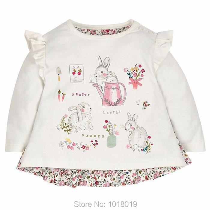 Korean Long Sleeve Tops Children Clothing Cotton T Shirts