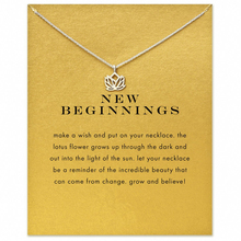 Big Beginnings 2017 New Gold color Lotus Necklace Clavicle Simple Cute Lovely Elegant Jewelry na