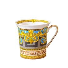Горячая Распродажа Европейский Костяной фарфор кофе креативная керамическая кружка чашки и кружки с Золотая Ручка Милые чайные кружки Бесплатная доставка