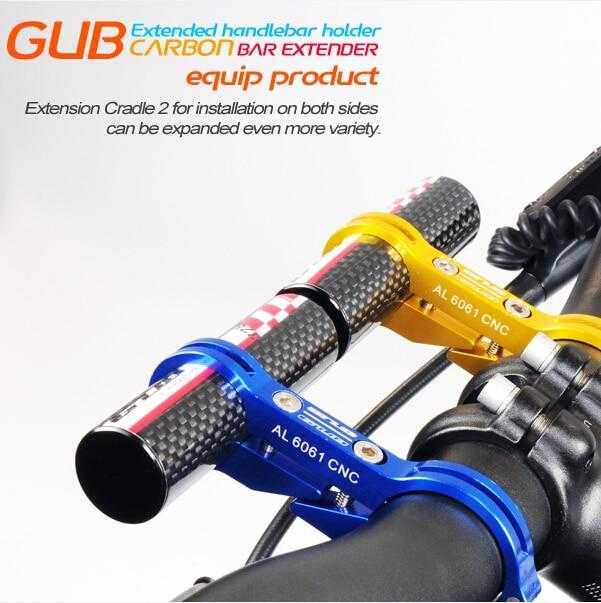 자전거 MTB 산악 자전거 핸들 확장 도로 자전거 탄소 섬유 익스텐더 홀더 램프 컴퓨터 익스텐더 부품
