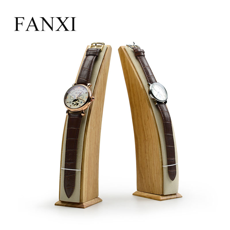 купить FANXI Solid Wood Watch Jewelry Display Stand with Microfiber Necklace Pendant Holder for Jewelry Exhibition Organizer онлайн