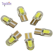 2pcs LED Car Bulb T10 12v 194 W5W 8 SMD Silicone COB Instrument Clearance auto Light dropshipping for Lada Octavia Ford Fiesta(China)