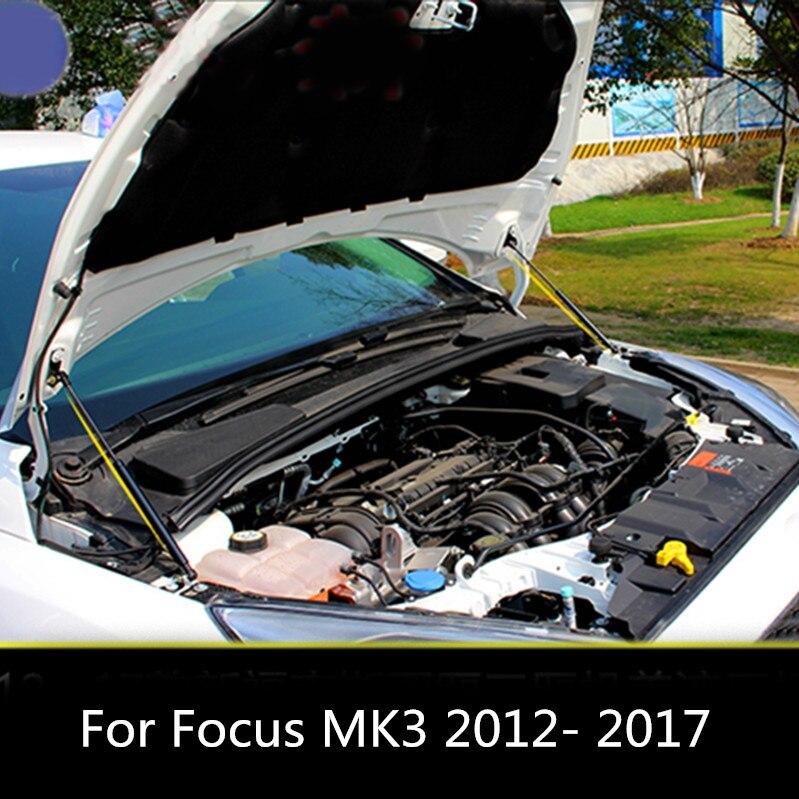 Capot avant en acier capot moteur support tige hydraulique jambe de force ressort barres de choc support tronc pour Ford Focus MK3 2012-2017