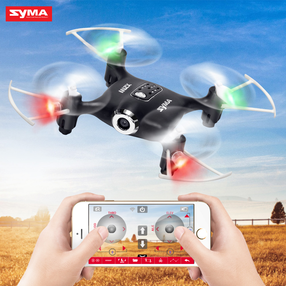 Syma X21W RC Mini Drone With Camera WIFI FPV Real Time Transmit Quadcopter RC Helicopter Quadrocopter Aircraft Drones syma x8c 2 4g 4ch professional fpv quadcopter drone with hd camera wifi real time transmit control helicopter toy