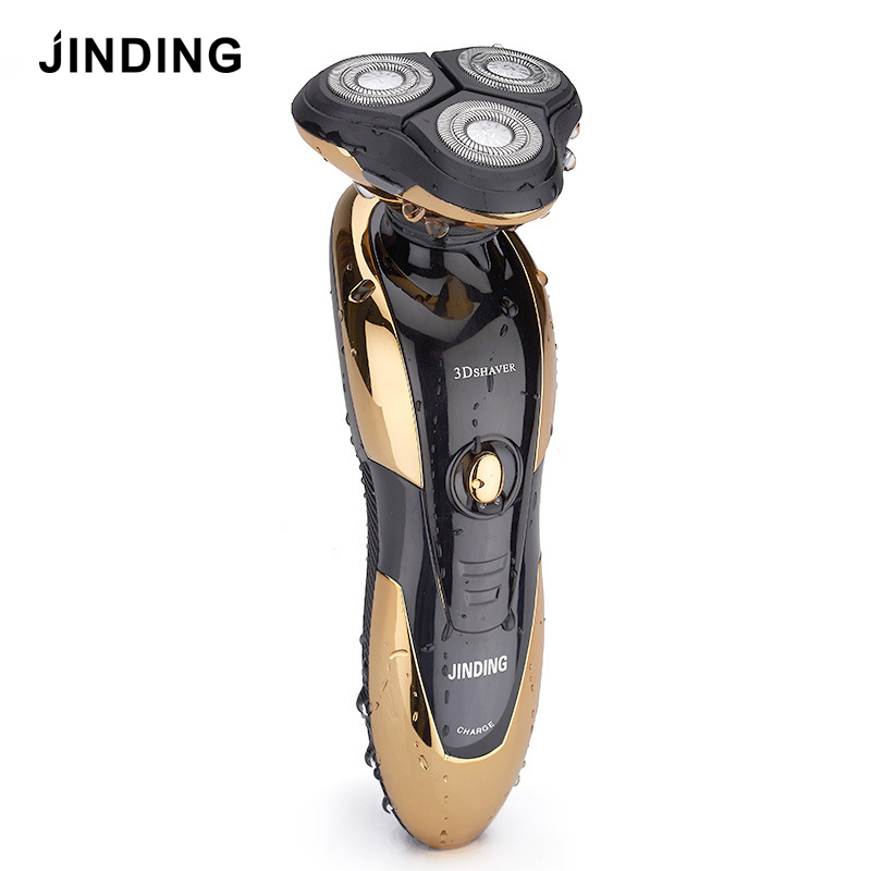 JINDING Electric Shaver for Men Rechargeable Razor 3D Floating Head Shaving Machine Beard Washable Fast Charge Triple Blade 2017 hot sales new primitive man shaving machine 5 d waterproof rechargeable crime is portable travel man to the electric razor