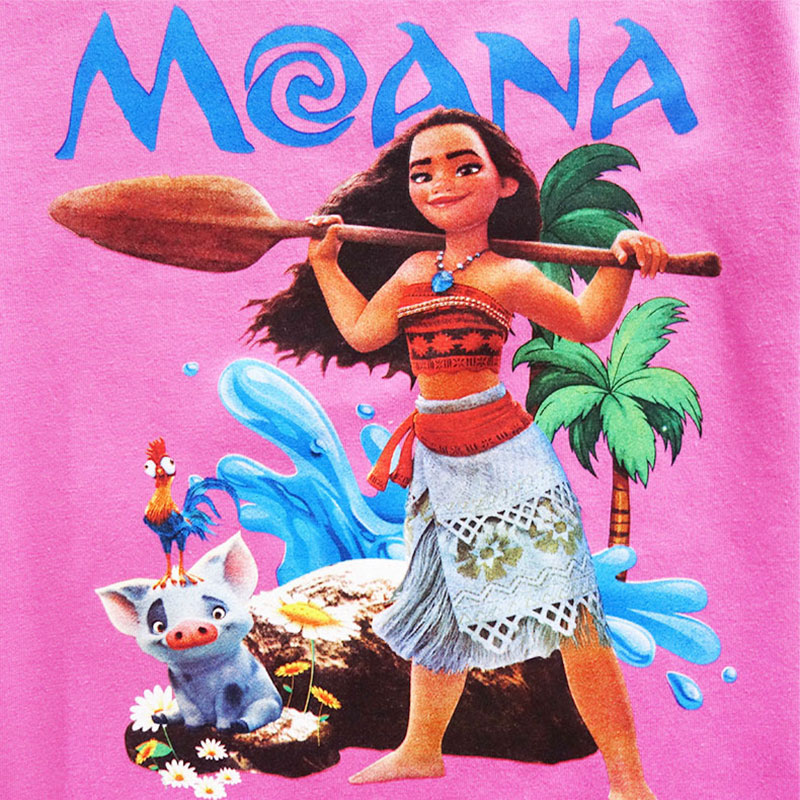 HTB1iaGex1GSBuNjSspbq6AiipXa2 - Disney princess Girl shirts T-shirt Moana Ocean Romance Children kids short sleeve T-shirt summer
