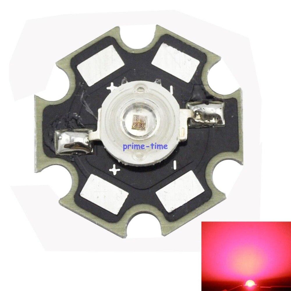 Wholesale 50PCS 3W Deep Red High Power 660NM Plant Grow LED Light Epiled for Cabinet/Tank/Aquarium