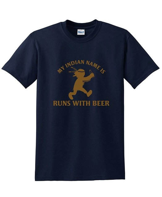 2daec8164 My Indian Name Is Runings with Beer Funny Drinking Novelty Party Dad Funny  T Shirt Round Neck Men Tops Tee Men Lastest
