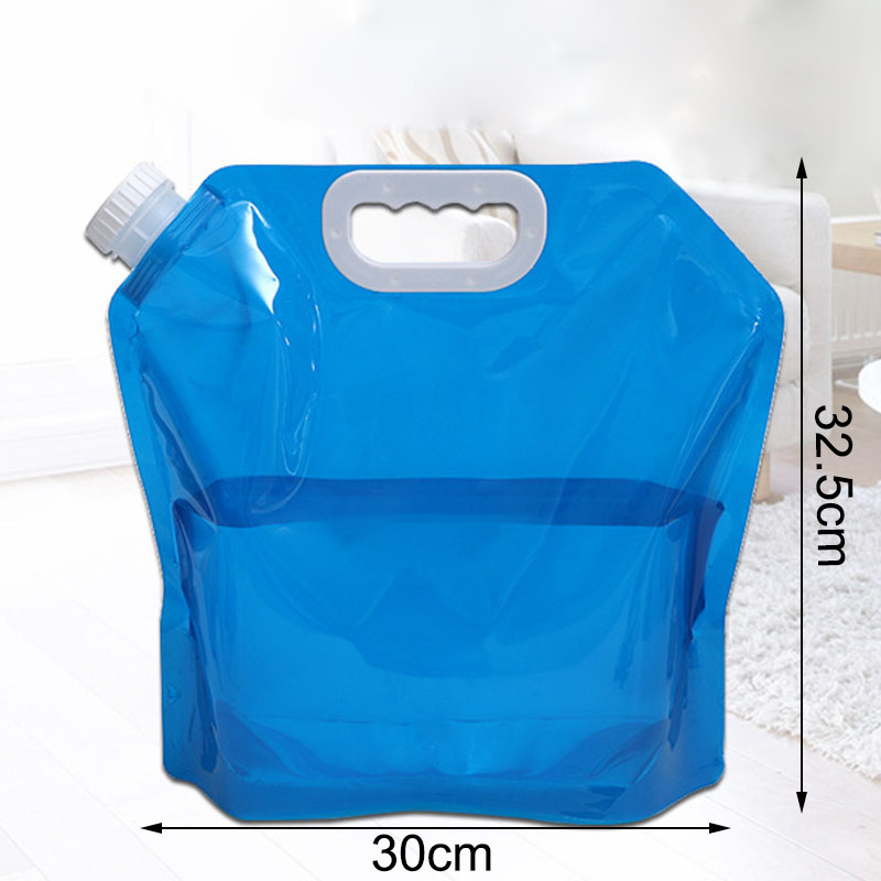 Outdoor Collapsible Foldable Car Water Carrier Container PE Material Water Bag