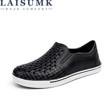 LAISUMK Comfortable Men's Sandals Slip On Garden Clogs Pool Beach Water Hollow Shoes Men Casual Work Medical Breathable Light slip on casual garden clogs waterproof crocus shoes women classic nursing clogs hospital women work medical sandals