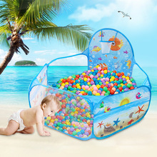 купить Children's Tent Ocean Balls Toys Playing  Pit Baby Play Ball Pool With Basket Net Outdoor Game Large Foldable Tents дешево