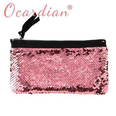 OCARDIAN 2018 femmes maquillage Double couleur paillettes portefeuille portefeuille porte-cartes stylo sac à main livraison directe