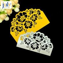 Julyarts Steel Scrapbooking Cutting Dies Flower 3D Box Lace Edges Borders Metal