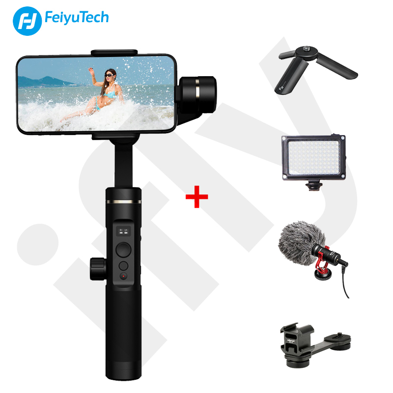 Feiyutech SPG 2 3-Axis Handheld Gimbal Smartphones Stabilizer for iphone Xs X Samsung note 8 mobile phones PK DJI Osmo mobile 2