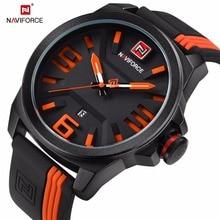 Watch Men Naviforce Top Brand Luxury leather Belt quartz Clock male waterproof Wrist watches fashion Sport watch horloges mannen