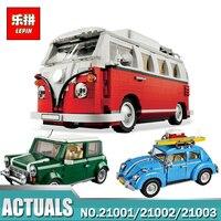 2016 New LEPIN 21001 1354Pcs Creator Volkswagen T1 Camper Van Model Building Kits Bricks Toys Compatible